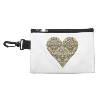 Floral Pattern by William Morris into Heart Accessory Bags