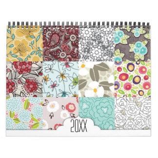 Floral Pattern Calendar
