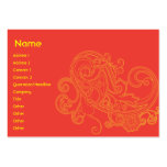 Floral Pattern - Chubby Business Card