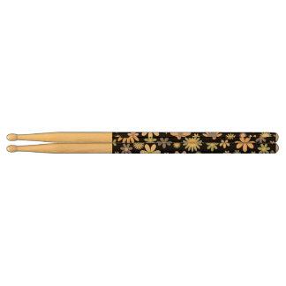 Floral pattern drum sticks