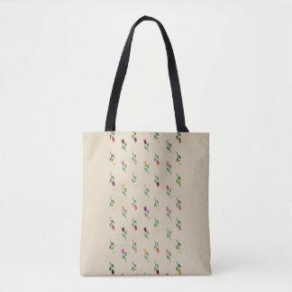 Floral Pattern Colorful Romantic Nostalgic Sensual Tote Bag