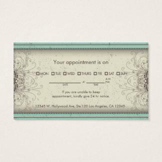Floral Pattern Damask Elegant Appointment Cards