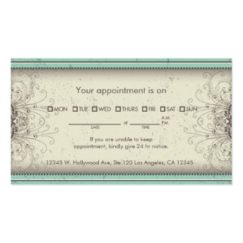 Floral Pattern Damask Elegant Appointment Cards Business Card Templates