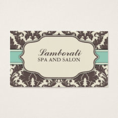 Floral Pattern Damask Elegant Classy Modern Retro Business Card at Zazzle