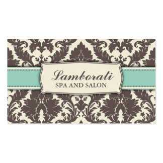 Floral Pattern Damask Elegant Modern Classy Retro Business Card Template