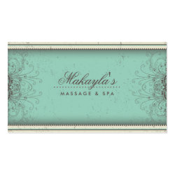 Floral Pattern Damask Elegant Modern Classy Retro Business Card Template