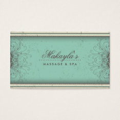 Floral Pattern Damask Elegant Modern Classy Retro Business Card at Zazzle