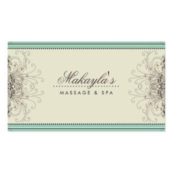 Floral Pattern Damask Elegant Modern Classy Retro Business Card