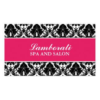 Floral Pattern Damask Elegant Modern Stylist Salon Business Card Templates