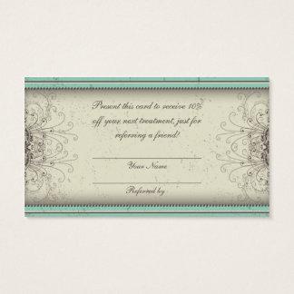 Floral Pattern Damask Elegant Referral Cards