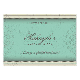 Floral Pattern Damask Elegant Referral Cards Business Card