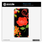 Floral Pattern Decals For The iPhone 4S