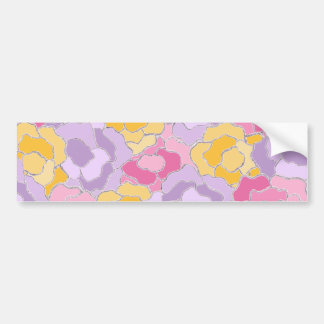 Floral Pattern Design Bumper Sticker