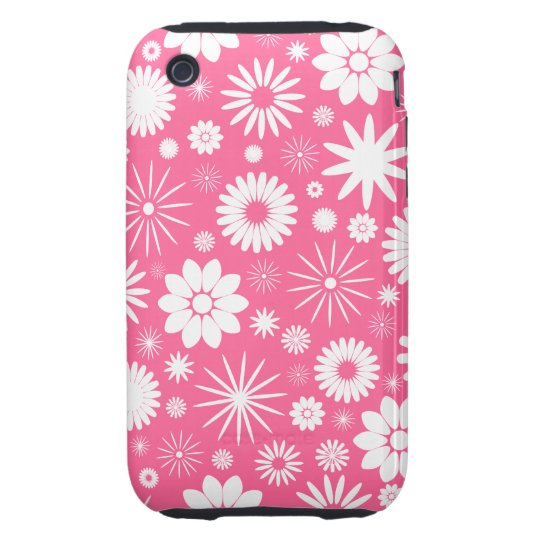 Floral Pattern Design iPhone 3 Tough Cover