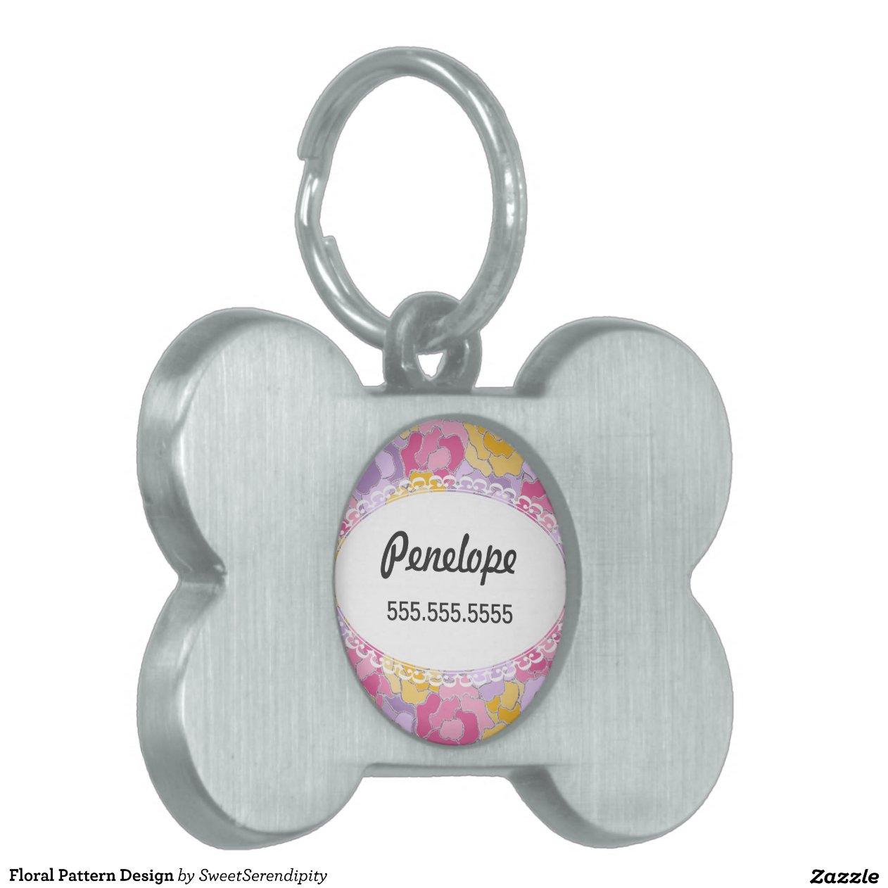 Floral Pattern Design Pet