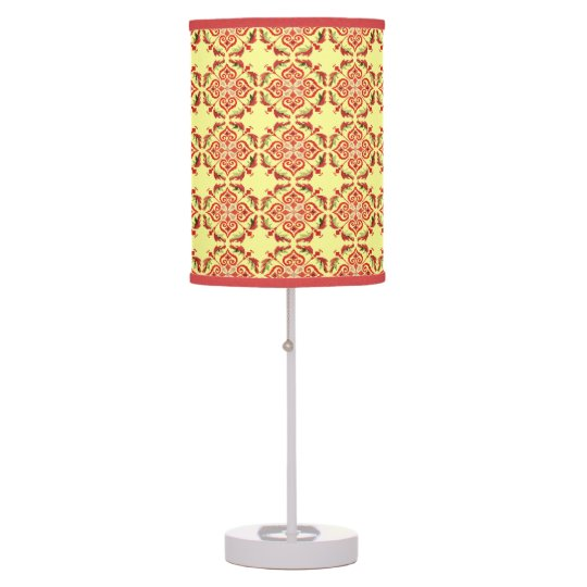 floral pattern desk lamp