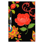 Floral Pattern Dry-Erase Whiteboards