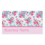 Floral Pattern Elegant Fashion Designer Stylist Business Card