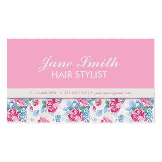Floral Pattern Elegant Fashion Designer Stylist Double-Sided Standard Business Cards (Pack Of 100)
