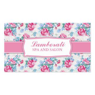 Floral Pattern Elegant Hairdresser Stylist Salon Double-Sided Standard Business Cards (Pack Of 100)