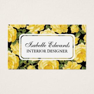 Floral pattern elegent vintage rose business card