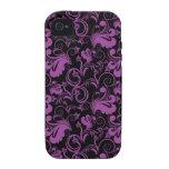 Floral Pattern Flower Purple Elegant Modern Retro Case-Mate iPhone 4 Cases