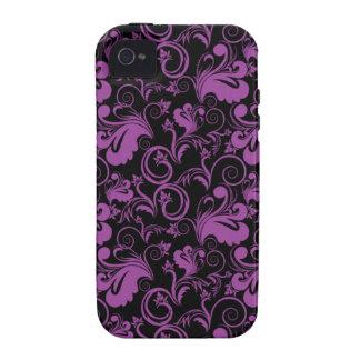 Floral Pattern Flower Purple Elegant Modern Retro iPhone 4 Covers