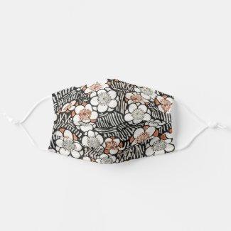 Floral pattern from Bijutsu Sekai Watanabe Seitei Cloth Face Mask