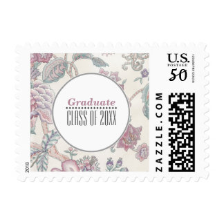 Floral Pattern Graduation Custom Postage Stamps