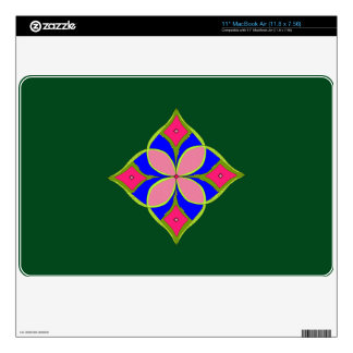 Floral Pattern Green Screen Protector For Laptop Skins For The MacBook