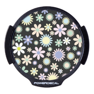 Floral pattern LED car window decal