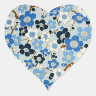 Floral Pattern Heart Sticker