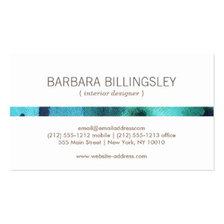 FLORAL PATTERN II for Interior Designer, Decorator Double-Sided Standard Business Cards (Pack Of 100)