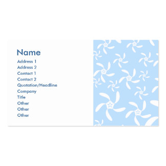 Floral Pattern in Light Blue and White. Business Card Templates