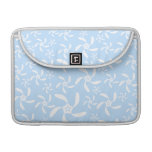 Floral Pattern in Light Blue and White. Sleeves For MacBooks