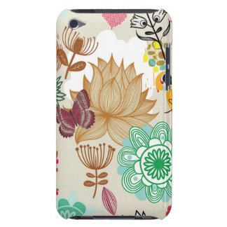 Floral pattern in retro style Case-Mate iPod touch case