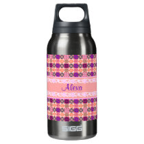 Floral Pattern Insulated Water Bottle