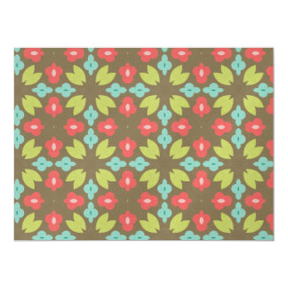Floral pattern personalized invitation