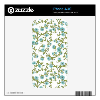 Floral Pattern iPhone 4 Decal