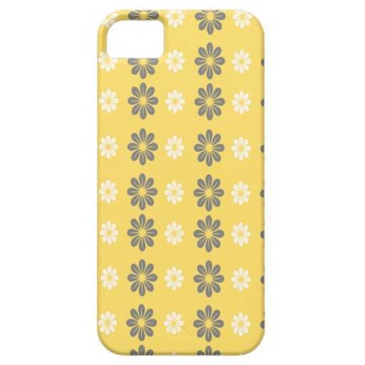 Floral Pattern Iphone Case | Yellow Grey iPhone 5 Cover