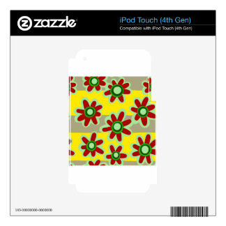 floral pattern iPod touch 4G skin