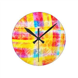 floral pattern.jpg round clock