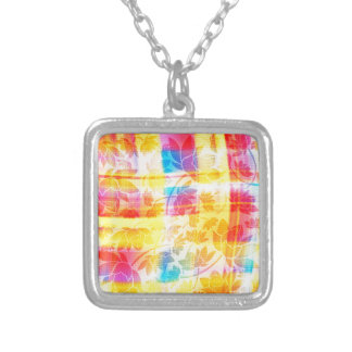 floral pattern.jpg silver plated necklace