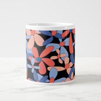 Floral pattern jumbo mug 20 oz large ceramic coffee mug