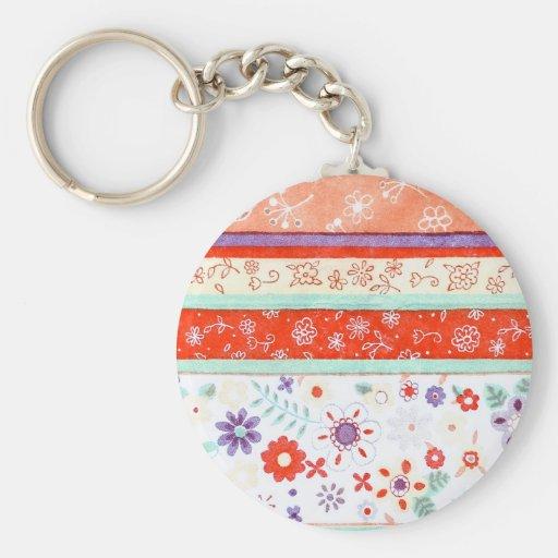 Floral Pattern Key Chain