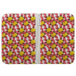 Floral Pattern Kindle Case Chocolate Pink Yellow