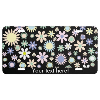 Floral pattern license plate