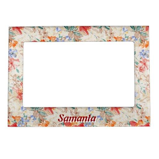 Floral Pattern Magnetic Frame