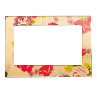 Floral pattern magnetic photo frame