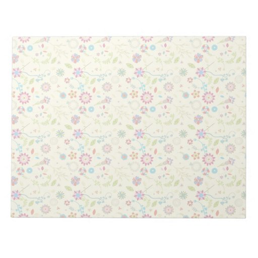 Floral pattern memo notepads